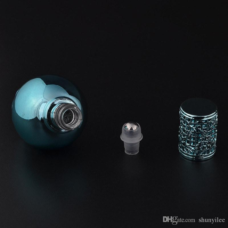 Glas-Roller-Flaschen Leere Rolle auf Flasche für Parfüm, ätherisches Öl, Kugel-Form-Kosmetik nachfüllbare Behälter
