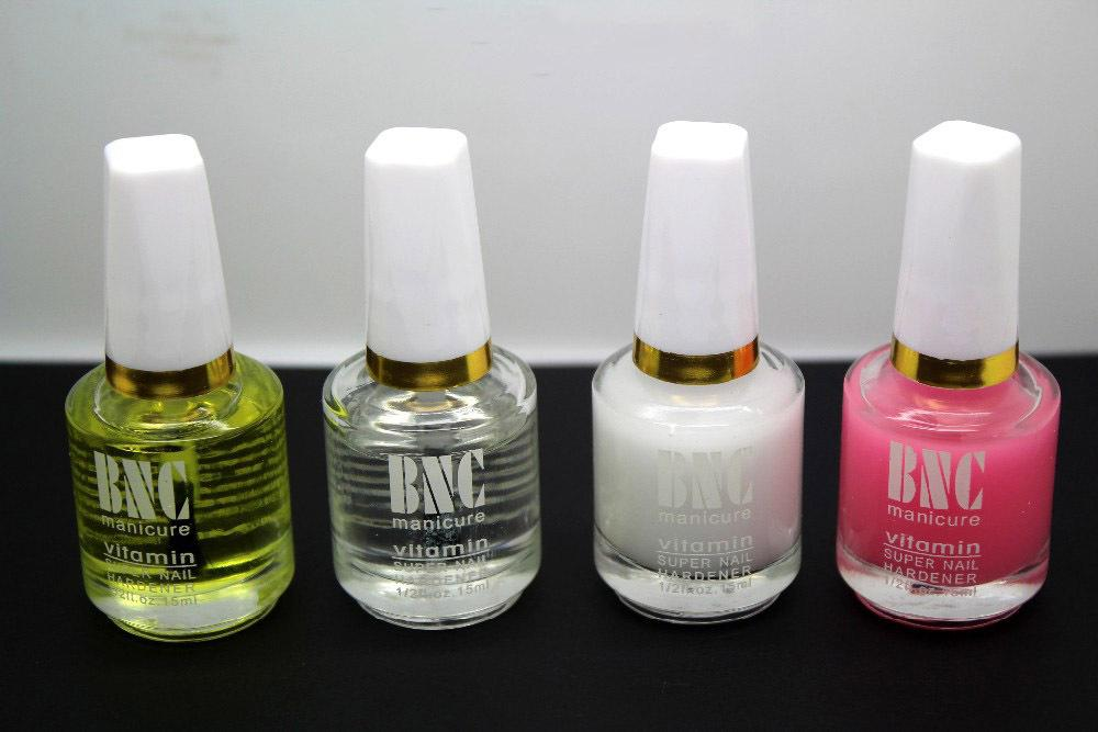 4Bottles / Lot BNC Nail Art польский Nursing масло Прозрачная основа Кальций Light Oil Nutrition Oil Coat Mollifier 15ML