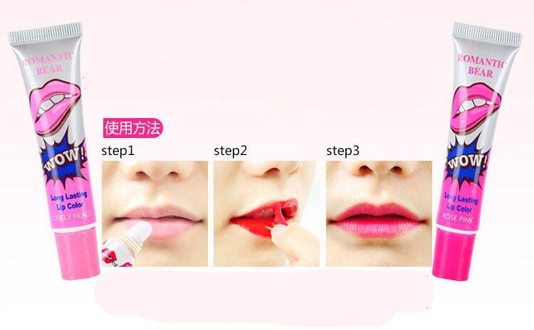 Brand New Lip Gloss Staccare 24 ore Nessuna macchia Marine Collagene Rossetto Balsamo Pianta Orso romantico Trucco Idratante Maschera labbra i