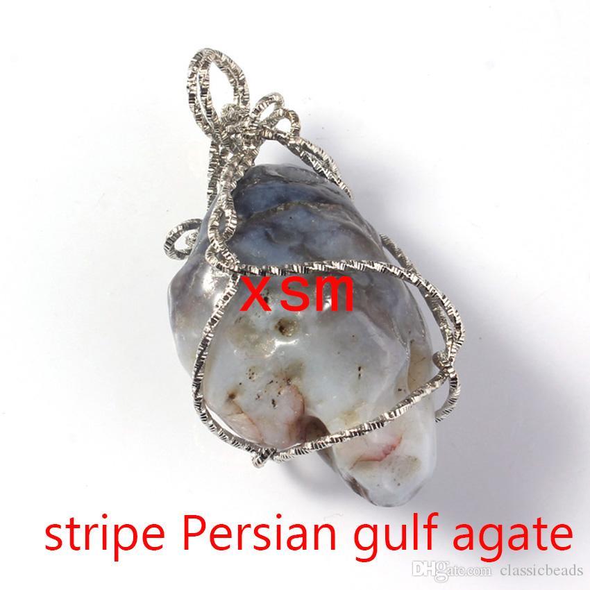 10 stücke Natürliche Ursprüngliche Rock Anhänger, Natürlichen Rock Anhänger Vergoldet Handarbeit Wicklung Persischer Golf AchatAmethystRose QuarzTopaz Anhänger