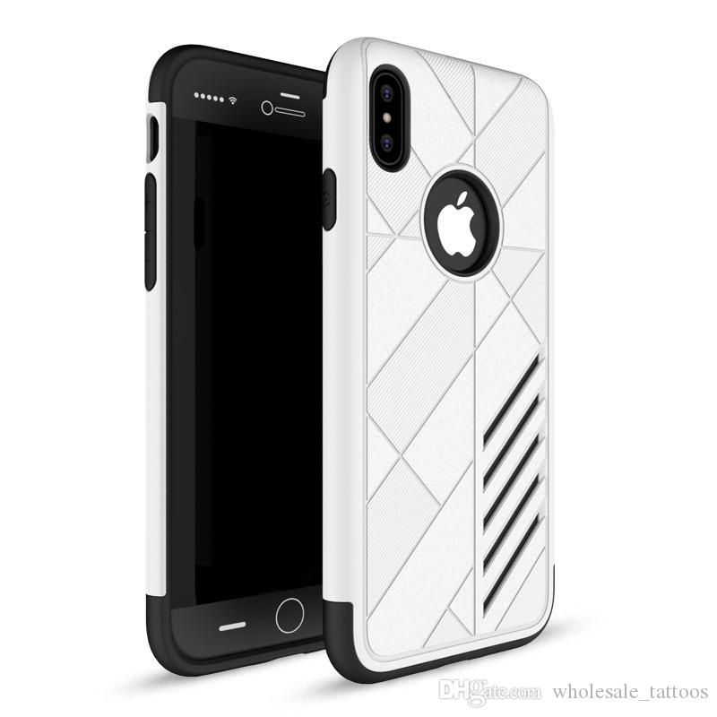 Armor Case For iPhone X 10 5 5S SE 6 6S Plus 7 Plus 8 8 Plus LG Stylo 3 Coolpad Catalyst Defiant TPU+PC hybrid Cases Shock-proof Stand Cover
