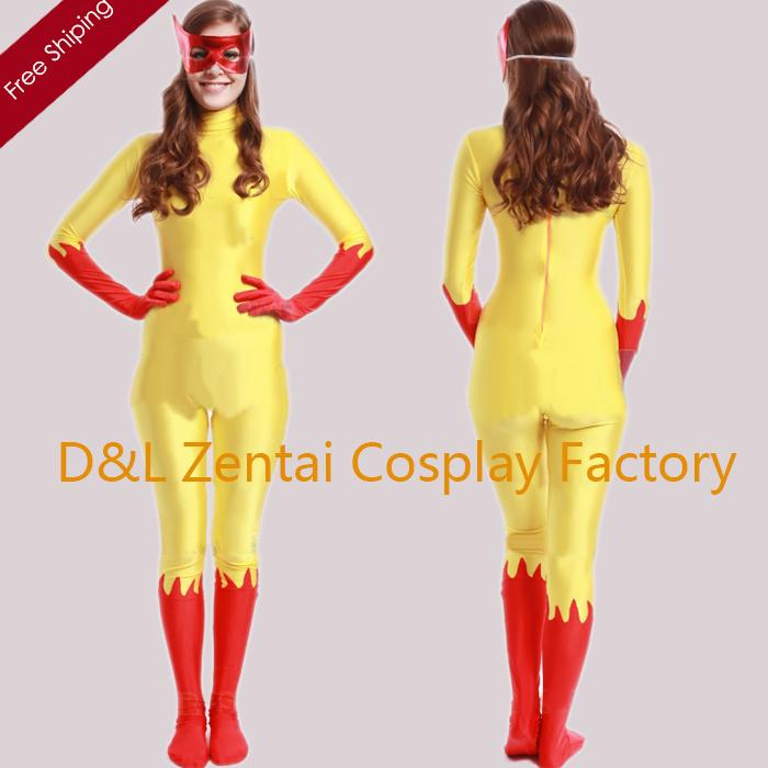 2018 Dhl Women Yellow And Red Marvel Comics Firestar Lycra Spandex Superhero Costume With Mask Back Zipper Shs410 From Cosplayexpert $45.23   Dhgate.Com  sc 1 st  DHgate.com & 2018 Dhl Women Yellow And Red Marvel Comics Firestar Lycra Spandex ...