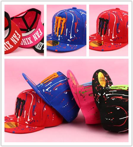 Multicolor High-quality Children Canvas baseball cap Korean new fashion hip-hop Claws Meteor shower cap Adjustable size