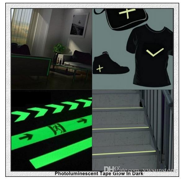 Premium Luminous GLOW IN THE DARK Vinyl Tape Sheet Reflective strips green Shinning tape 50mmW*10mL