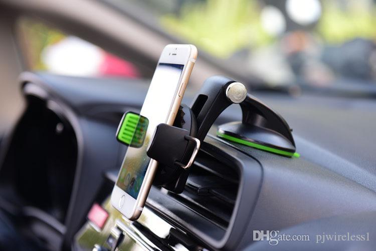 Para iphone Para Samsung 360 ° Girar Coche multiusos con sistema de succión interior alargado, soporte para teléfono móvil, estuche común B