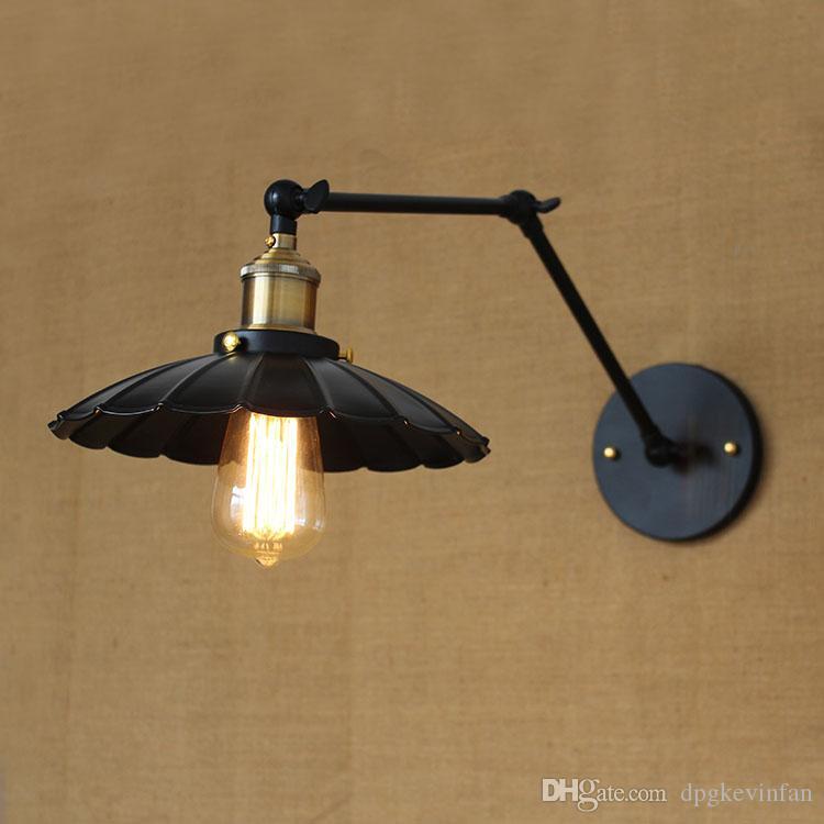 Mat Ceinture Lampe Double Interrupteur Applique Noire De Bras Hôtel Chambre Rétro Murale Long Ingénierie Chevet Restaurant K3TuF1Jlc