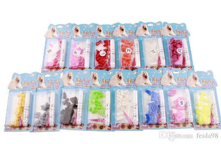 Silicona Soft Cat Nail Caps / Cat Paw Claw / Pet Nail Protector / Cat Nail Cover con pegamento libre y Applictor G1123