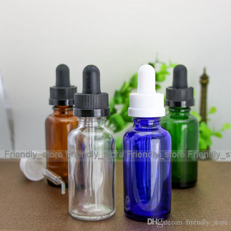 30ml Glass Bottles E liquid Bottle With Glass Sharp Dropper Cap And childproof Safty Cap 30ml Essential Oil Bottles