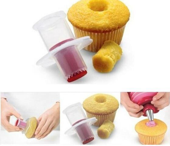 Cupcake Dolgu Corer Çekirdek Piston Cuisipro Muffin corer Modeli yapmak sandviç delik dolgu