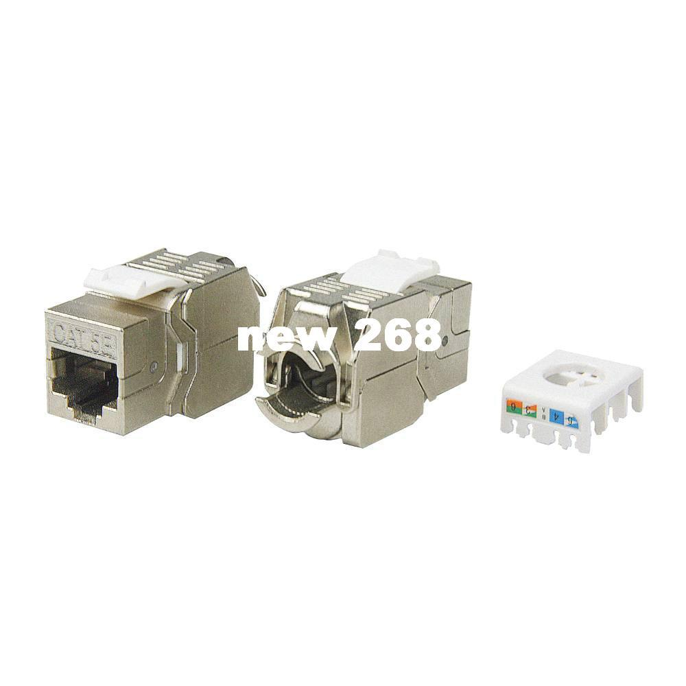 Pack Network Rj45 Cat5e Keystone Jack Full Shielded Tool Free Wiring Connection Linkway Brand New To Bnc Cable Connector Cat5 Online With