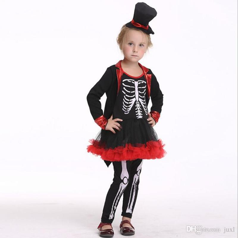 2018 New Kids V&ire Skeleton Costume Children Girls Cosplay Skull Costumes Halloween Party Fancy Dress Decoration Elmo Halloween Costume Girl Group ...  sc 1 st  DHgate.com & 2018 New Kids Vampire Skeleton Costume Children Girls Cosplay Skull ...