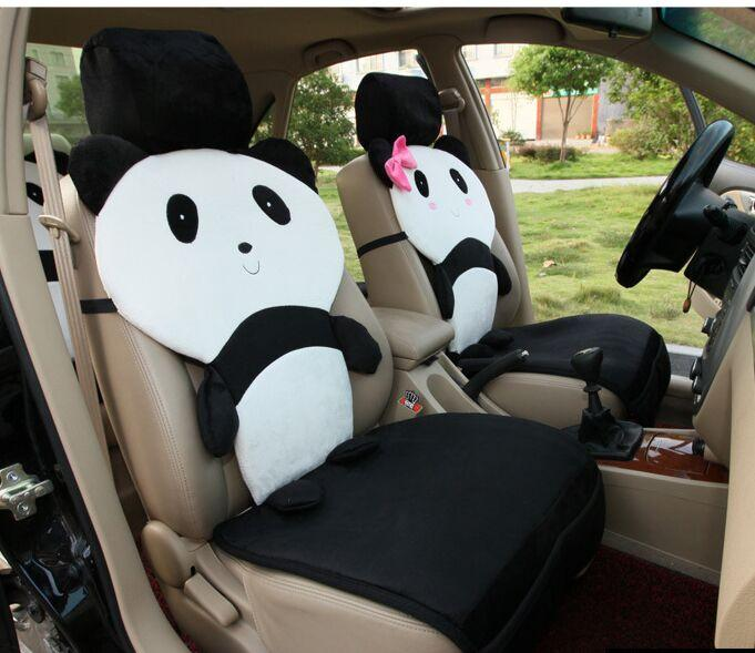 Kungfu Panda Car Seats Cover Set Black White Lovely Cartoon Auto Front Back Covers Seat Sale From