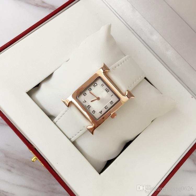 새로운 디자인 패션 여성 가죽 드레스 시계 여성 쿼츠 시계 정품 가죽 유명한 디자이너 레이디 손목 시계 릴로 쥬스 드 마카 머