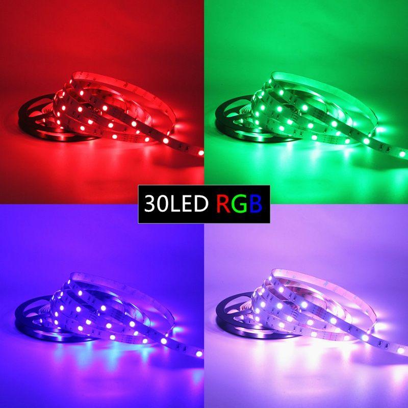 Edison2011 IP20 IP65 5050 SMD RGB Светодиодная полоса Светодиодная прокладка PRECTS / M Гибкая светодиодная полоса DC12V 150LED 5M RGB LED веревка