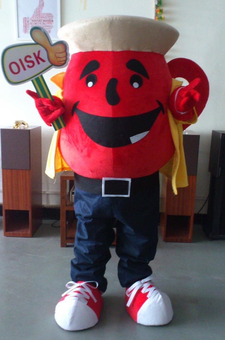 Oisk The Kool Aid Man Teapot Mascot Costume Adult Size Funny For