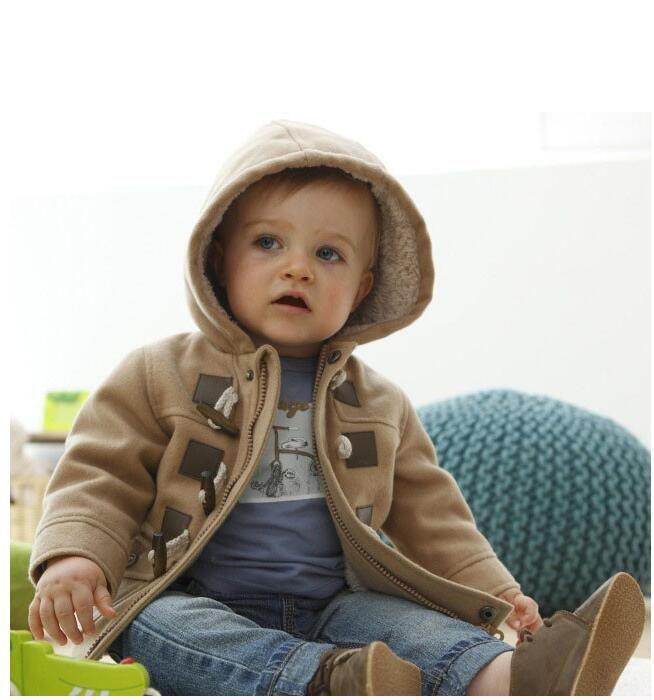 Новые Мальчики Куртка Зимняя Одежда 2 Цвет Верхняя Одежда Пальто Хлопок Толстые Детская Одежда Детская Одежда С Капюшоном
