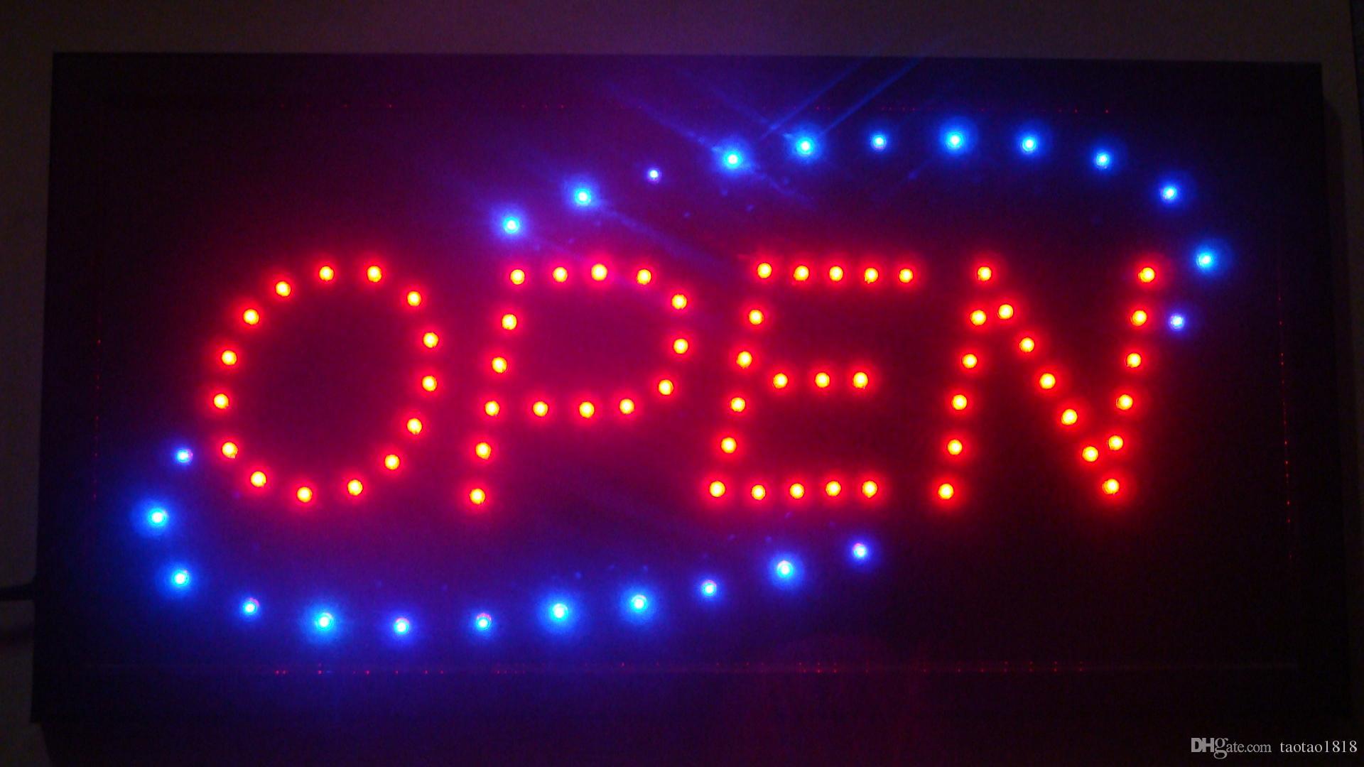 2019 Led Open Sign Neon Light 10 19 Inch Indoor Plastic