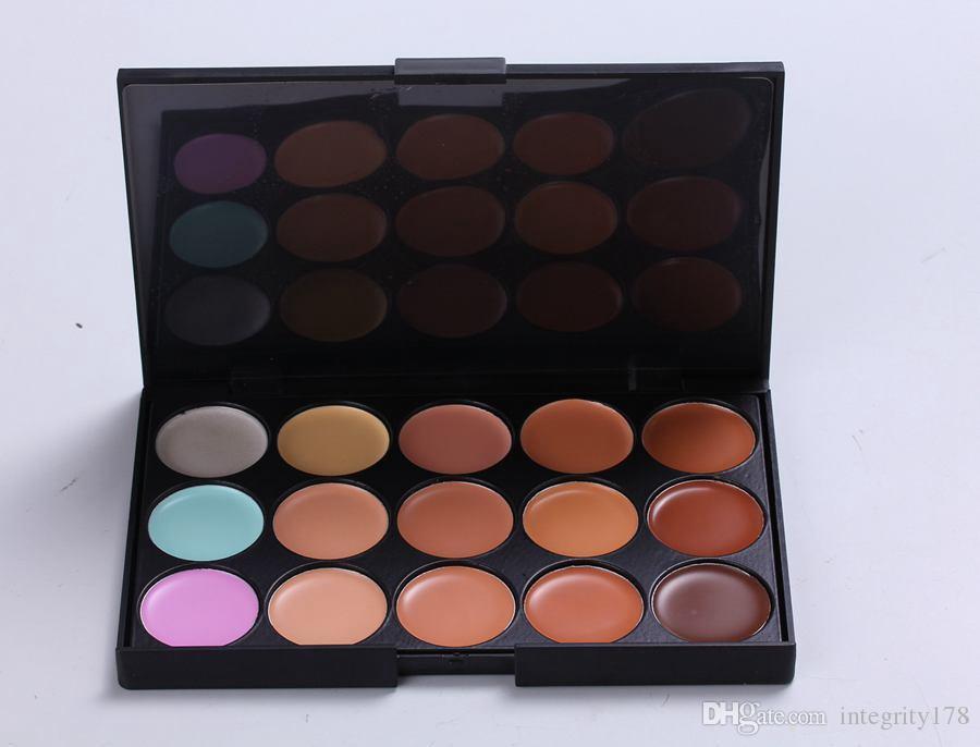 Горячие продажи специальный профессиональный 15 цвет маскирующее уход за лицом камуфляж макияж палитра 48 шт. / лот 15FG-01#, 15FG-02#