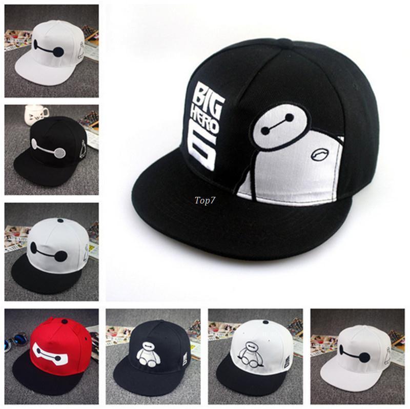 bcfb3dc95a7 New Men Women Hot Big Hero 6 Baymax Snapback Hat Baseball Cap Hip Hop  Adjustable Bboy Cap Ball Caps Fitted Caps From Top7