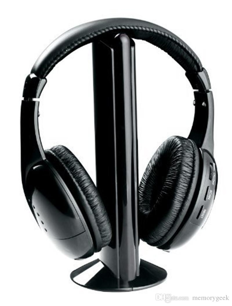 Sıcak Satış 5 1 Hi-Fi Kablosuz Kulaklık Kulaklık Için FM Radyo MP3 CD PC TV Ücretsiz Nakliye