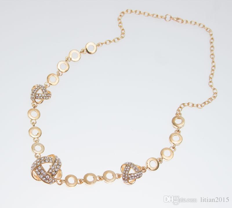 Frete grátis africano banhado a ouro romântico moda cristal claro conjuntos de colar moda bijuterias
