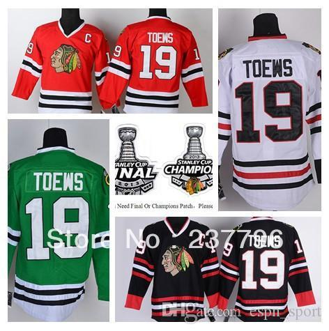 a601c8a1fc7 2019 2015 New Jonathan Toews Jersey #19 Chicago Blackhawks Ice Hockey  Jerseys Finals Champions Red Black White Green Stitched Best Quality From  Espn_sport, ...
