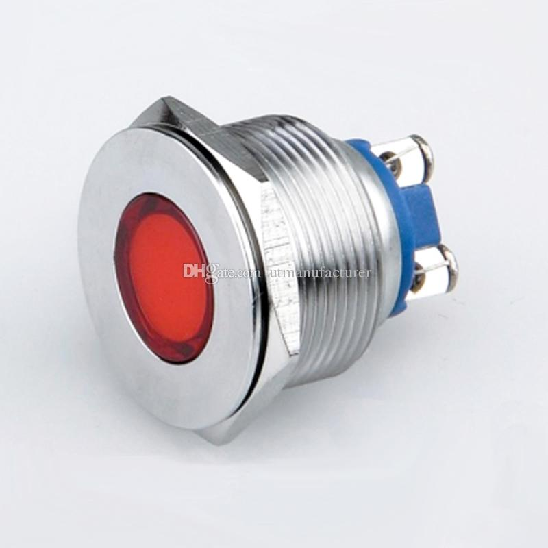 22mm metal waterproof pilot Light ,Factory direct supply IP67 auto eye 3v 6v 12v 24v 36v 48v led indicator light