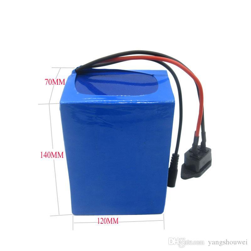2 pz all'ingrosso Batteria ricaricabile 24 V bici Batteria 24 V 12AH batteria al litio con custodia in PVC 15A BMS 29.4 V 2A caricatore spedizione gratuita