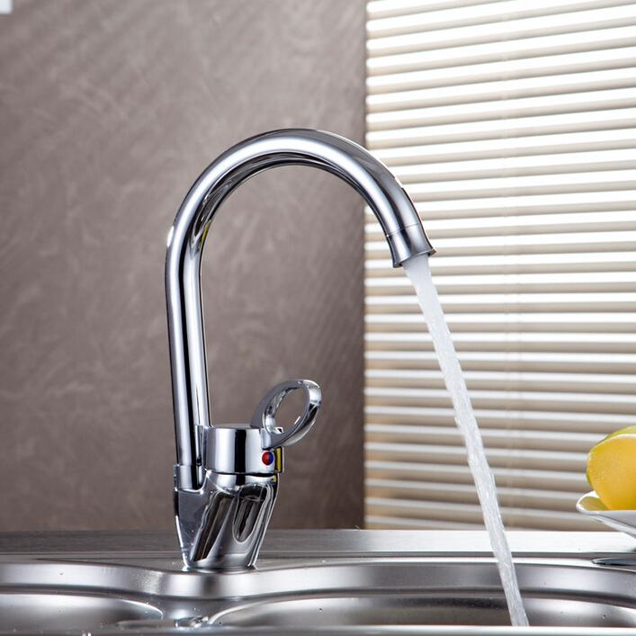 Solid Brass Kitchen Faucet with Drinking Water Function Single ...