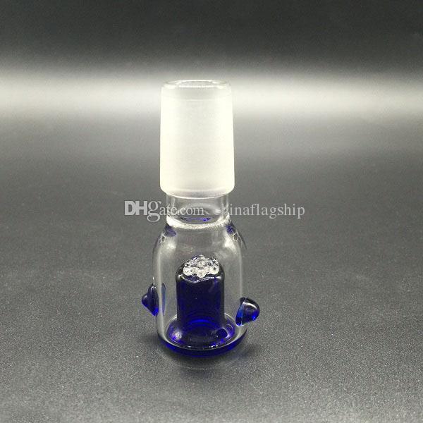 Cuenco de cristal al por mayor con la pantalla del panal Alrededor de 14.4mm 18.8mm junta femenina masculina opcional para los tubos de agua del vidrio Bongs