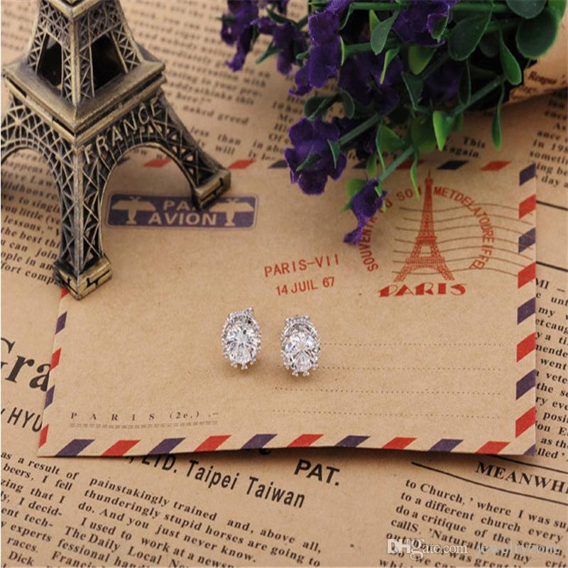Luxury Crystal Crown Stud Earrings S925 Silver Gold Plating Studs Swarovski Elements Bridal Engagement Fashion Jewelry Top Quality Gift