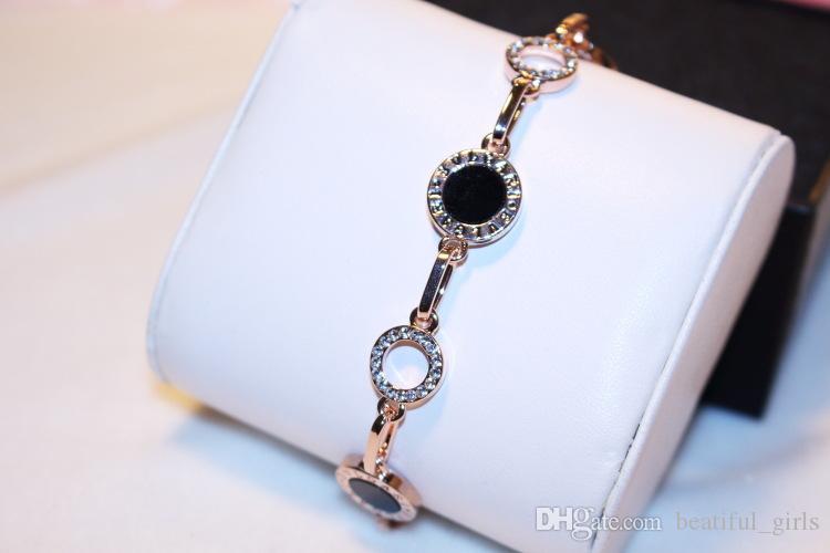 Sıcak satış Kore versiyonu bilezik 18 K altın-kaplama bilezik nefis elmas yüzük dolu Avrupa ve Amerikan moda bilezik hediye