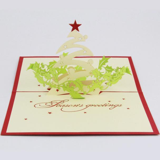 Großhandel Qubiclife Weihnachtsgruß 3d Stereo Weihnachtskarte Ideen ...