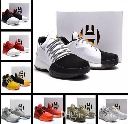uk availability 00611 bc373 Hot Sale Harden Vol. 1 Men Basketball Shoes James Harden Vol. 1 Home BW0547  Rocket Red White GS Shoes Sneakers 40 46 Sneakers On Sale East Bay Shoes  From ...