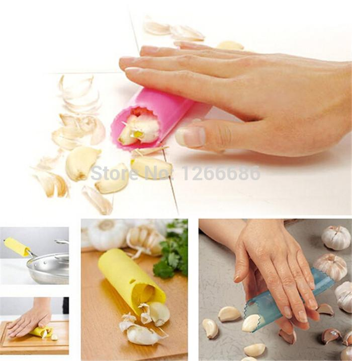 200pcs/lot Magic Silicone Garlic Peeler Peel Easy Useful Kitchen Tool