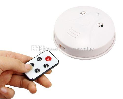 4GB 8GB Smoke Detector camera DVR with Remote control Motion Detection video recorder 720*480 30fps 2.0MP mini camcorder white in retail box