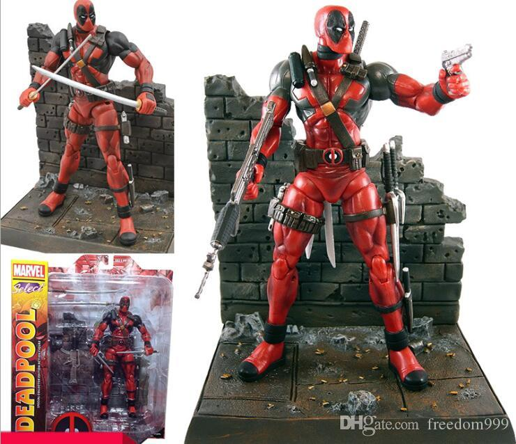 18 CM X-man Deadpool Joint Movable Wade Winston Wilson Acción PVC Figure Collection Modelo Kids Toy Doll