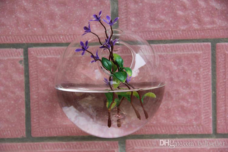 10CM Clear glass vases air plant terrarium Wall hanging Glass vases wedding centerpieces vases for wall decor home party decoration
