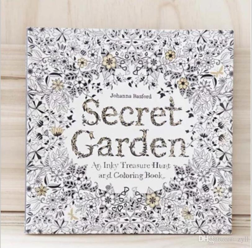 Secret Garden Datura An Inky Treasure Hunt And Coloring Book For Children Adult Relieve Stress Kill Time Graffiti Painting Drawing Colouring In Books