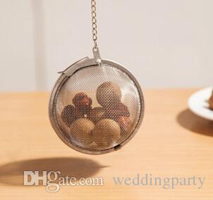 / venden al por mayor el diámetro inoxidable los 4.5cm bola de la esfera de la malla de la bola del tamiz de la especia del té
