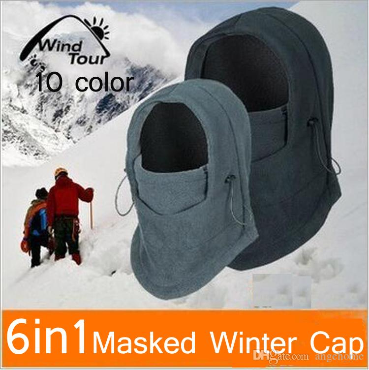 516094e0c45 Fashion New Sport Outdoor Camping Hiking Hat Thermal Winter Warm 6 In 1  Balaclava Hood Ski Cap Fleece Bike Scarf Wind Proof Mask Hat Trilby Mens  Hats From ...