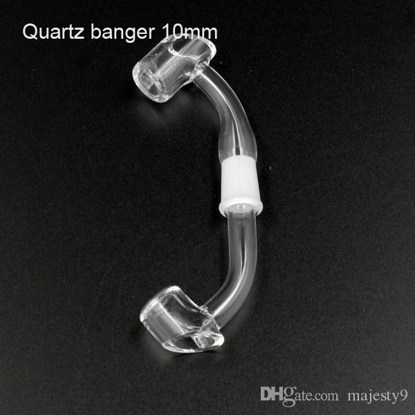 4mm Thick quartz banger nail 10mm14mm18mm male female 100% real quartz nail titanium nail herb grinder glass