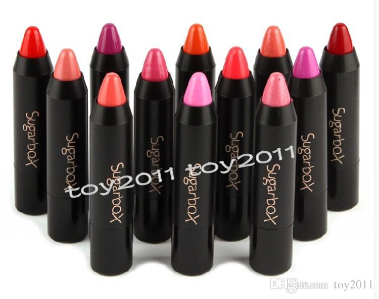 Sugar box makeup Lipstick batom matte baby High Gloss Lip Color Lip Crayons Lip Tint Optional Waterproof