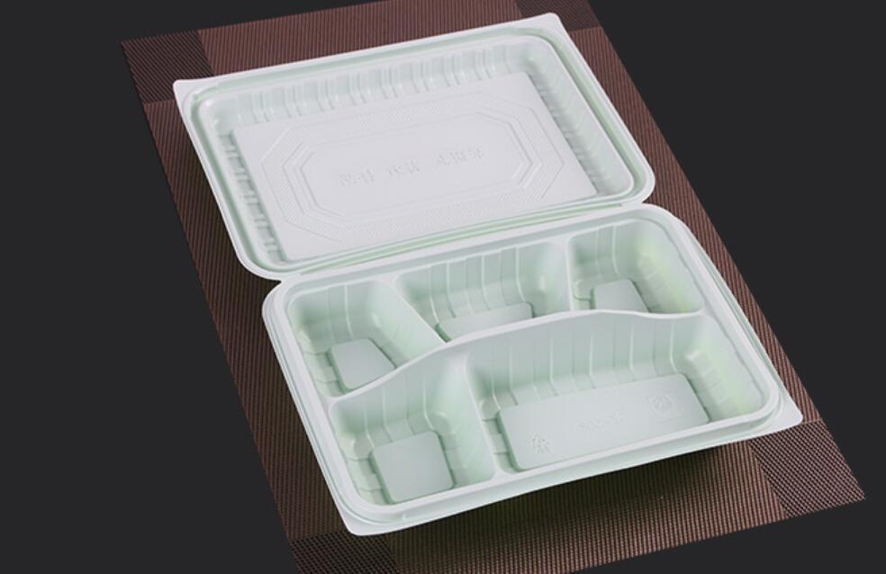 Expédition gratuite 5 compartiment Food Grade Grade PP Matériel Take Away Food Food Emballage Boîtes de Bento jetables de haute qualité pour restaurant
