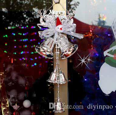 christmas festival big bells christmas tree decoration pvc bells decorations shopwindow door pendant large size bell christmas supplies unique christmas - Large Christmas Bells Decorations