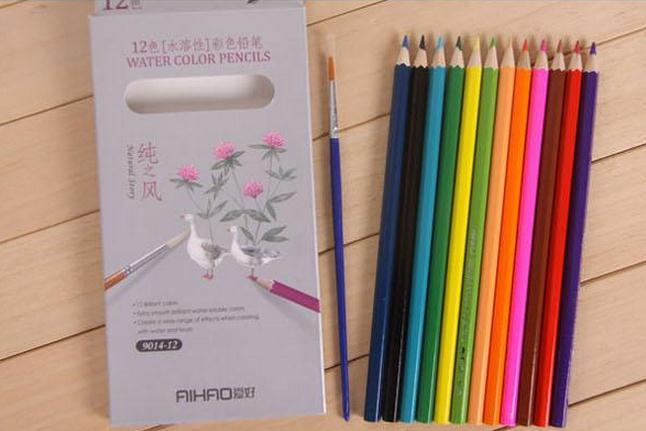 Cool 12 Water Color Pencils For Painting Drawing Book Secret Garden Coloring Enchanted Forest Accessory Pens A Box Alien Stress Toy Anti
