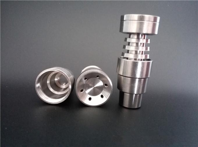 Kubbesiz Titanyum Tırnak Su Borusu Cam Bong Sigara için 14mm 18mm.GR2 Saf Titanyum Tırnak 4 In 1 uyuyor.