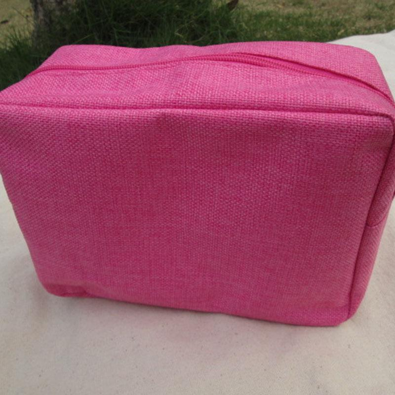 Wholsesale Blanks New Stylish Jute Colorful Womens Cosmetic Cases Makeup Bag Via FedEx DOM106154