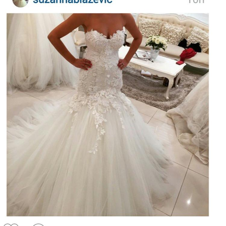 2016 Mermaid Lace Wedding Dresses Sweetheart Neckline Lace Appliques Tulle Backless Draped Lace Bridal Dresses Wedding Party Custom Made