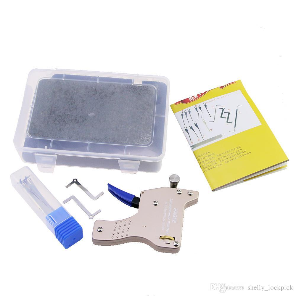 Yüksek Kalite Yeni Gelişmiş KARTAL Yarı Otomatik Mekanik Kilit Seçim Gun Profesyonel Kilit Çilingir için Kilit Seçim Aracı ...